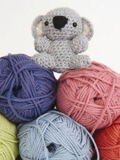 Cuddly Crochet Creatures: Amigurumi Koala  From Tiny Yarn Animals by me!! Tamie Oldridge of Roxycraft.com