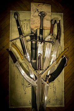 The blades of Lord of the Rings