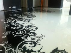 Stencil Epoxy Floors in Lagos Mainland - Baustoffe, Peter Ndubuisi 3d Flooring, Modern Flooring, Flooring Ideas, Garage Flooring, Epoxy Floor Designs, Self Leveling Floor, Epoxy Floor Basement, Home Design, Floor Wallpaper
