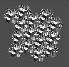 3D Cube Tessellation by Daniel Filipe, via Behance