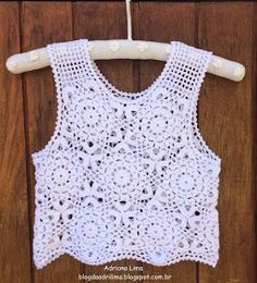 ergahandmade: Crochet Lace Top + Diagram + Video Tutorial