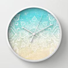 Beach Mandala Wall Clock