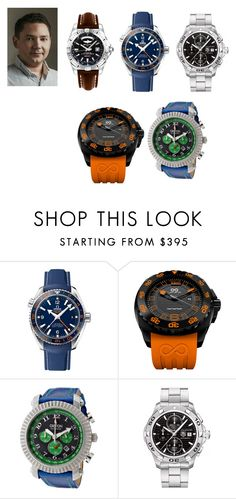"""men 20"" by gulvirabaeva on Polyvore featuring OMEGA, Croton, TAG Heuer, Breitling, men's fashion и menswear"