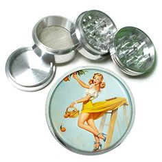 Vintage Retro Sexy Bridesmaid Party 4Pc Aluminum Grinder Pin Up Girl151 * Check out this great product.  This link participates in Amazon Service LLC Associates Program, a program designed to let participant earn advertising fees by advertising and linking to Amazon.com.