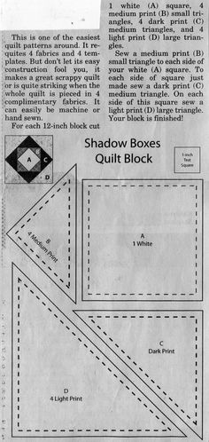 Shadow Boxes Quilt Block
