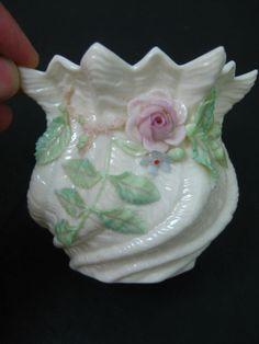Rare VTG Belleek Irish Porcelain Multicolored Floral Vase   eBay Irish Pottery, Belleek China, Belleek Pottery, Irish American, Hand Painted Plates, Waterford Crystal, Fine China, Flower Arrangements, Tea Pots