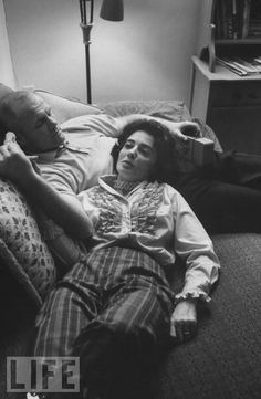 Astronaut John Glenn and his wife, Annie, grab a quiet moment at home. Glenn and his wife were childhood sweethearts.