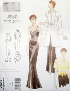 Vogue 2859 Evening Dress Blouse and Jacket by SewingPatternStore, $8.79