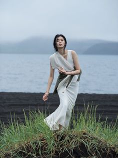 Ming Xi wears a mix of knitwear and elegant dresses stars in Vogue China…