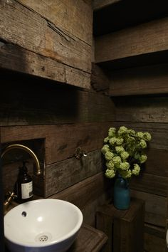 rustic cladding in my downstairs loo!