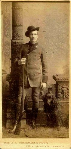 Vintage Doggy: The Handsome Hunter and his Dog