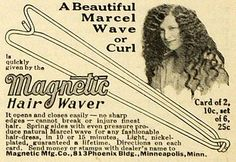 1919 Ad Magnetic Mfg Co Marcel Wave Curl Rods Hair Waver Styling Products | eBay