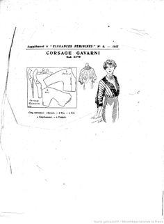 Modes (Paris) 1912  pattern