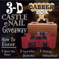 It's March Madness!!!!!! A new year brings a new  @dabberbox #giveaway!!!! We are giving away one of our brand new Red #3DPrinted custom #DB Castle Shaped ENail!  Fitted with a 16mm XLR beaded heating cool and USB charge port this enail is all you need for a proper dabbing station!  ENTER WITH 3 EASY STEPS!! 1. Share this photo  2. FOLLOW & TAG @DABBERBOX 3. Must hashtag #DBCastleEnail  WINNER WILL BE CHOSEN (04.14.16)  Must be 18 years or older to participate! Inquiries for pre-order please…
