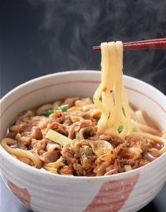 豚キムチうどん. kimuchi udon.