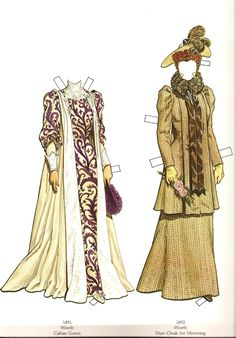Great Fashions of the Belle Époque: Doll 1  (8 of 16) by Tom Tierney, Dover Publications  | Gabi's Paper Dolls