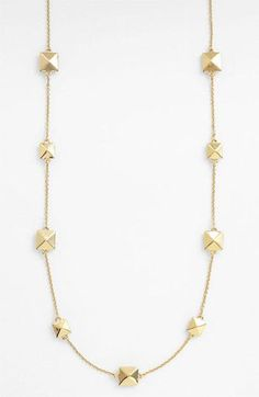 I have this neclace; it's very substantial and looks great on its own or layered with other necklaces. On sale now at Nordstrom's.