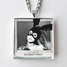 Ariana Grande - Dangerous Woman - Album Cover Art Pendant Necklace