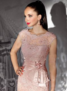 Wholesale Pink Cap Sleeve Short Beaded Lace Mother of the Bride Dresses Gowns E3107, Free shipping, $110.31/Piece | DHgate Mobile