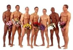Multi-racial group of seven naked male athletes standing in a row covering with bouquets of flowers - Stock photo 70006 Happy Birthday Funny, Happy Birthday Images, Happy Birthday Cards, Birthday Wishes, Happy Woman Day, Guy Friends, Floral Theme, Holiday Pictures, Ladies Day