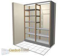 Létra szerkezetű beépített szekrény váz