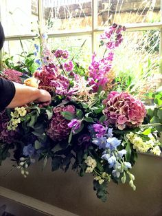 Styling it up at the Royal Crescent Hotel! Wedding Flowers, Floral Wreath, Wreaths, Holiday, Plants, Decor, Style, Garlands, Decoration