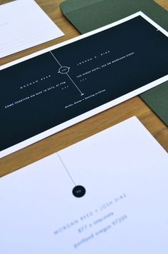 minimal wedding announcements design - Google 搜尋