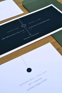 minimal wedding announcements design - Google 搜尋