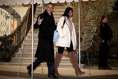 Happy Holidays Mr. President!! 🎄  Check #BarackObama and his daughter Sasha!  The first family was captured leaving the White House, to travel to Hawaii, where they'll be spending the #Christmas and #NewYear's holiday.  #WBLS LISTEN LIVE ON WBLS.COM!!