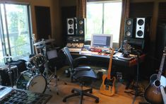 home-recording-studio-with-instruments