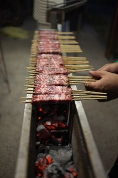Abruzzo's arrosticini - tasty barbecue!! Yummy!