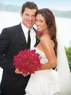 Nick Lachey and Vanessa Minnillo wedding at Necker Island, British Virgin Islands.