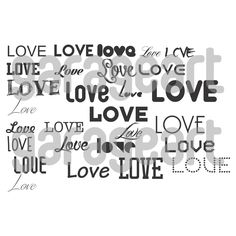 Love vector svg, dxf, eps, png (300dpi) cdr, ai, pdf de Garageartdesign en Etsy