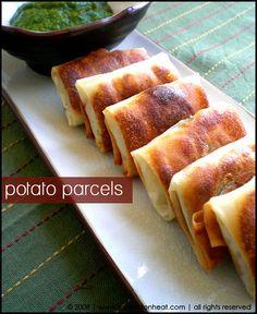 Potato Parcels by hookedonheat, via Flickr