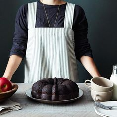 Green Ticking Pinafore Apron-Food 52
