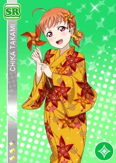 Love live sunshine Chika yukata style set