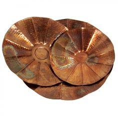 IMAX 3 Piece Scalloped Bowl Set in Copper - 60005-3