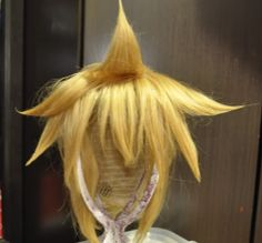 Vocaloid Len default Cosplay Wig -Spiking -Layering