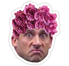 'Michael Scott Flower Crown' iPhone Case/Skin by Samsung Galaxy Cases, Iphone Cases, Michael Scott, Cute Stickers, Laptop Skin, Sticker Design, Mini Skirts, Pencil Skirts, Flower Crown