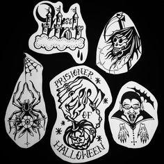 Flash do tatuador Adriano para o Flash Day de Halloween do Clube Tattoo.