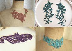 Mariages Rétro: ETSY : les bijoux en dentelle Stitch from the heart