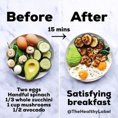 Desayuno rápido fácil y satisfactorio. Quick breakfast easy and satisfying. # Breakfast # Brunch The post Quick breakfast easy and satisfying. # Breakfast # Brunch appeared first on Pink Unicorn. Healthy Meal Prep, Healthy Breakfast Recipes, Healthy Eating, Dinner Healthy, Zucchini Breakfast, How To Eat Healthy, Breakfast Ideas, Avocado Breakfast, Breakfast Salad