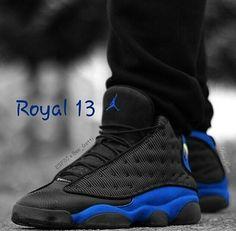 740df0fd5fe2 Air Jordan 13 black and dodger blue. Entertainment s 84 · Shoes Men