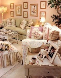 Cottage livingroom on pinterest shabby shabby chic and for Shabby chic living room ideas on a budget