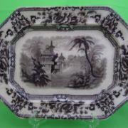 "Mulberry Davenport Ironstone Transferware Platter, ""Cyprus"""