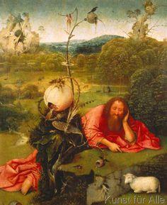 Hieronymus Bosch - Johannes der Täufer in der Wüste (65,0 x 80,0 cm)