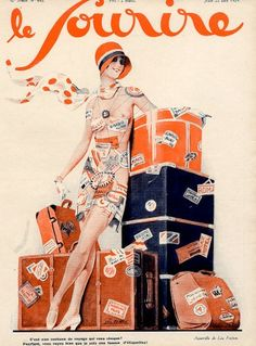 Le Sourire 1929 1920s France Luggage Canvas Print / Canvas Art by The…