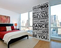 Wall Decal Quotes - Simple Things of Life Inspirational Quote Sticker Home Decor Vinyl Wall Decal