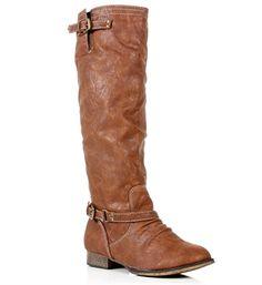 Tan Knee High Riding Boots