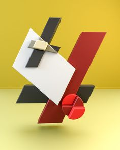 A rendering from the mighty folks from with their series entitled: Suprematism & Constructivism, based on Russian Art from Geometric Sculpture, Abstract Geometric Art, Abstract Pattern, Mondrian Art, Russian Constructivism, Rendering Art, Paper Collage Art, 3d Artwork, Art Base